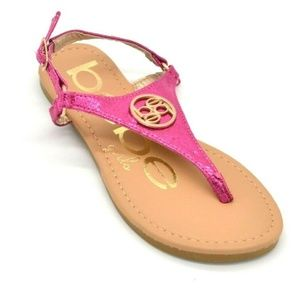 Bebe Girls T-Strap Thong Sandals US Size 2 New